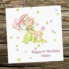 Personalised Fairy Girl Birthday Card - 1st 2nd 3rd 4th 5th 6th 7th 8th -