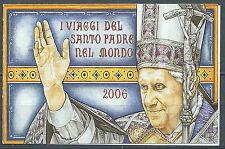 2007 VATICANO LIBRETTO I VIAGGI DEL PAPA BENEDETTO XVI MNH ** - ED