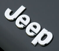 New Jeep Chrome Metal Badge Rear Boot Front Bonnet Emblem cherokee Wrangler
