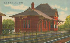 Laurel MD * B&O Railroad Station  1940s * Prince Georges Co. near Washington DC