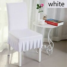 1PCS Ruffled Dining Chair Covers Stretch Spandex Wedding Banquet Home Seat Cover