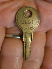 Vintage Old Fort Lock Chicago USA Brass Key N54G CLS1 Tool Box Locker Other