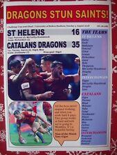 St Helens 16 Catalans Dragons 35 - 2018 Challenge Cup semi - souvenir print