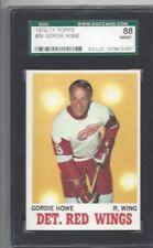 1970 Topps hockey card #29 Gordie Howe Detroit Red Wings graded SGC 88 NMMT 8