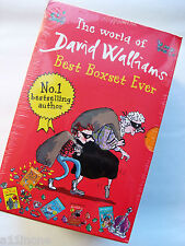 BRAND NEW THE WORLD OF DAVID WALLIAMS BEST BOX SET EVER - 5 BOOKS