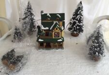 """ST NICHOLAS SQUARE 1998 LIGHTED """"HUBBARD HOUSE"""" RETIRED 7 Christmas Trees"""