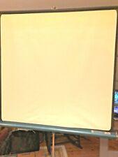 "Vintage 50"" x 50"" Movie Projector Radiant Folding Tripod Slide Projection Screen"