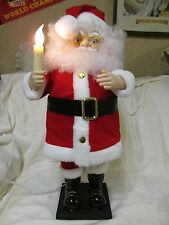 "Nice Animated 24"" Motionette-like Santa Claus Holding A Candle Christmas Display"