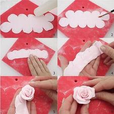 3 Pcs 3D Rose Flower Cake Decorating Tools Fondant DIY Sugarcraft Mold Mould
