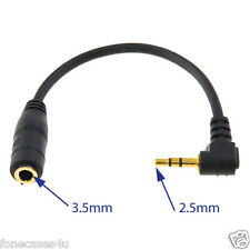 UK 3.5mm Female Socket to 2.5mm Mini Jack Headphone Earphone Converter Adaptor