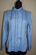 Chico's Striped Cotton Mix Button Down Career Shirt In Size 1 equals 8/M~