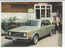 1976 VOLVO 244 (240 Series) Car Ad Postcard NOS New Unused Vintage Old Stock