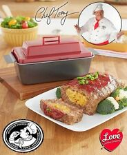 Chef Tony Stuffed Meatloaf Pan Nonstick Bake Drains Grease Stuff With Side Dish