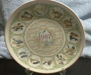 Wedgwood of Etruria & Barlaston - 1987 Water Birds Calendar Plate B3LB