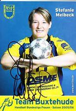 HANDBALL carte joueuse STEFANIE MELBECK handball bundesliga signée
