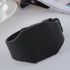 Damen Herren Trend Schwarz LED Armbanduhr Digitaluhr Touchscreen Silikonband