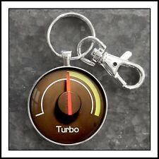 Volvo 740 Turbo Boost Gauge Photo Keychain Father's Day Gift
