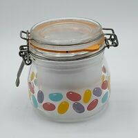 VINTAGE FRANCE TELEFLORA CANISTER JAR 1/2 L WITH JELLY BEAN / EASTER  NEW SEAL