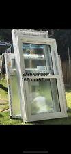 White Upvc Vertical Sliding Sash Window Double Glazed