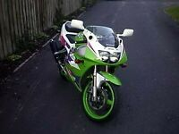 R&G White Classic Style Crash Protectors for Kawasaki ZXR400 All Years