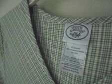 LAURA ASHLEY 10 Vintage DRESS Green plaid Poly Viscose Nylon EZ-Care