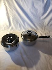 Vintage Twin Star Sauce Pan With Lid 18 8 Tri Ply Stainless Regalware - Lot Of 2