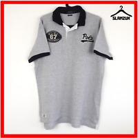 Ralph Lauren Mens Polo Shirt XL Custom Fit Grey RLPC 67 Football Themed RL