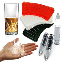 AK47 Bullet Shaped Ice Cube Tray Bar Pudding Chocolate Jelly Candy Mould Mold 7L