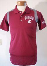 NWT Knights Apparel WSU Cougars NCAA Mens Sideline Polo Shirt S Crimson MSRP$40