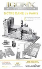 Fascinations Iconx NOTRE DAME de PARIS 3D Metal Earth Laser Cut Model Puzzle Kit