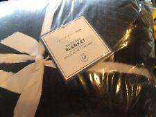 Pottery Barn Teen Cozy Bed Blanket Full Queen Classic Navy New
