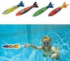 Set Of 4 Toypedo Bandits Swimming Pool Diving Game Summer Multicolour Brand New
