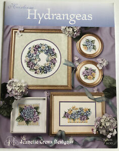 Jeanette Crews Heirloom Hydrangea Counted Cross Stitch Chart Leaflet #1226