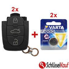 2x audi llaves de coche cr20 3 teclas carcasa a6 c5 4b a8 4d a4 b5 a3 + 2 xbatterie
