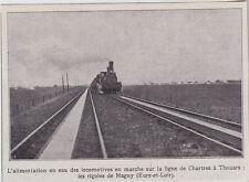 1911  --  ALIMENTATION EN EAU D UN TRAIN VAPEUR AUX RIGOLES DE MAGNY   3I432