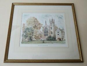 Original Vintage DAVID GENTLEMAN Winchester College Print Framed