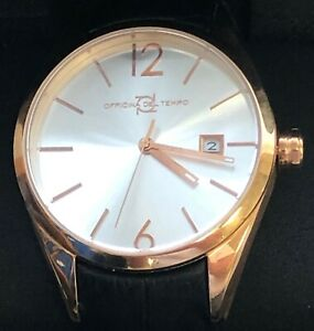 OFFICINA DEL TEMPO MADE IN ITALY OT1037-4300AGN Wall Street 8215 Rose Gold Case