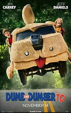 Original Movie Theater Poster 27x40 Double Sided DUMB AND DUMBER TO 2 EXCELLENT