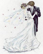 Cross Stitch Kit ~ Design Works Elegant Wedding Couple First Kiss #DW2844