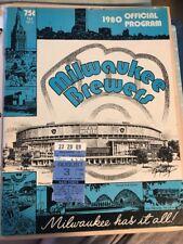 Milwaukee Brewers Vs New York Yankees 8-2-1980 Great Shape W/ Ticket