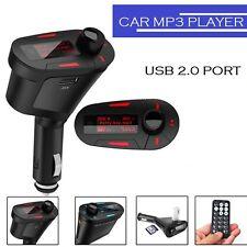 Red Car Kit MP3 Player Wireless FM Transmitter Modulator USB SD MMC LCD Remote