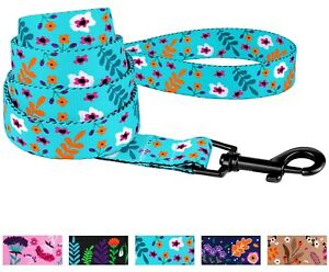 Dog Leash Training Nylon Lead 5ft long for Puppy Pet Small Large Floral Pattern