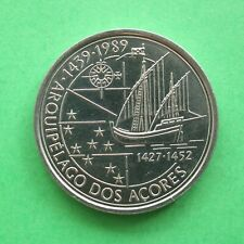 1989 Portugal Discovery of the Azores 100 Escudo SNo23348