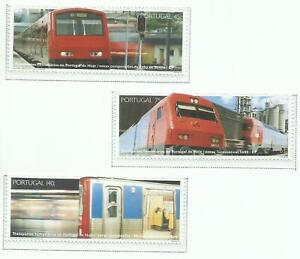 Portugal 1994 - Rail transports - train, metro set MNH