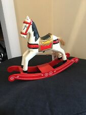 Hand Painted Wooden Rocking Horse New