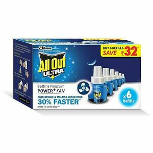 All Out Ultra Power+ Fan Mosquito Repellent Super Saver Pack ( 6 Refills Pack)