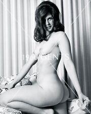 1960s 8X10 NUDE PHOTO OF BUSTY BRUNETTE NICE ASS LOUISA FROM ORIGINAL NEG-L3