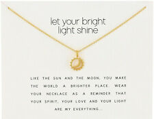 Dogeared-Style Gold Dipped Let Your Bright Light Shine Necklace - US Seller !
