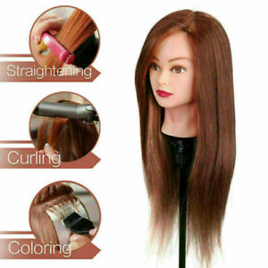 Professional Manequin head Human Hair Barber Practice Hairstyle Hairdresser *BI