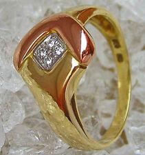 Nice✪ Brillant Schmuck in aus 14kt 585 Gold Ring mit Diamant Brillant Brillanten